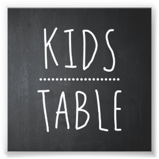 KIDS TABLE WEDDING DECOR | TABLE SIGN PHOTOGRAPH
