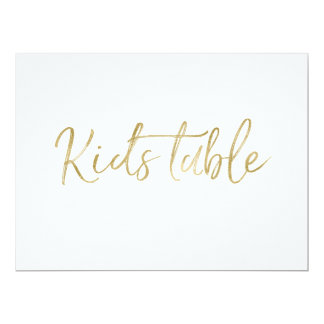 """""""Kids Table"""" Wedding Sign 