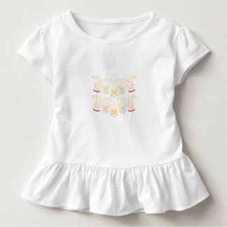 Kids tee white with Ornaments Gold