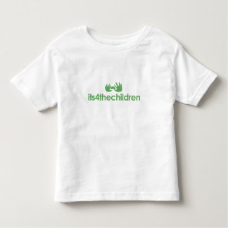 Kids Tee with green logo