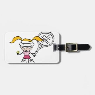 Kids tennis bag tag