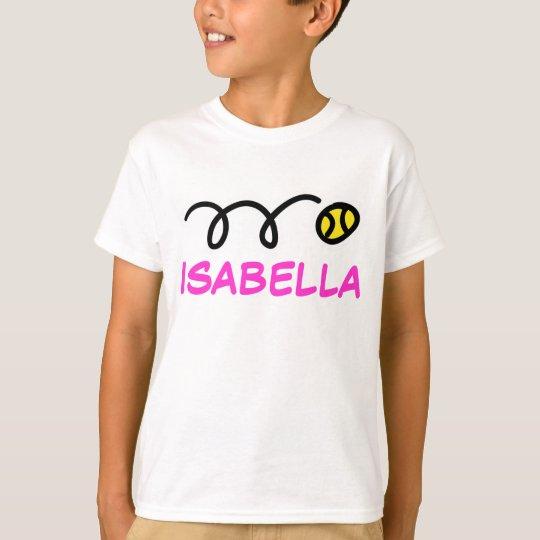 Kids tennis clothing | Personalised name t-shirt