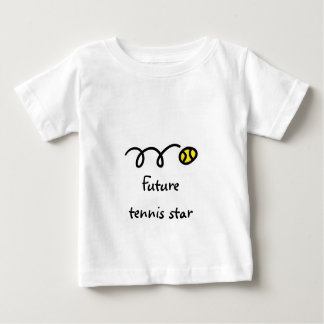 Kids tennis t shirt with cute saying - Future star