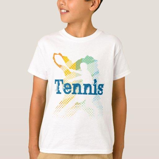 Kids Tennis Tee Shirt with customisable print