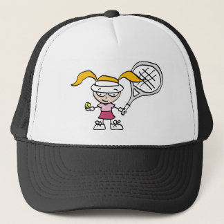 Kids tennis trucker hat