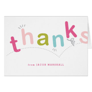 Kids thank you notecard