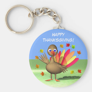 Kids Thanksgiving Baby Turkey Key Ring