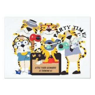 Kids Tigers Rock Star Birthday Bash 5x7 Invitation