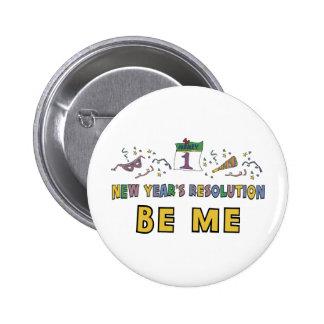 Kids, Toddler, Baby New Years Resolution 6 Cm Round Badge