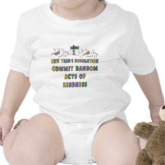 Kids, Toddler, Baby New Years Resolution T-shirt