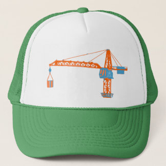 Kids' Toy Crane Drawing Trucker Hat