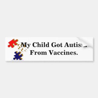 Kids-Toys-Puzzle_Pieces_1, My Child Got Autism ... Bumper Sticker
