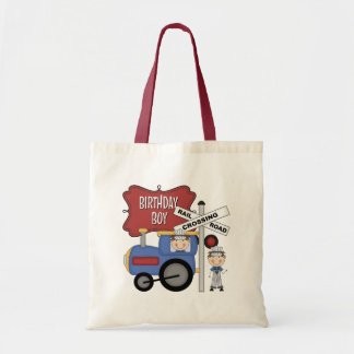 Kids Train Birthday Canvas Bags