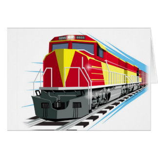 kids train birthday card