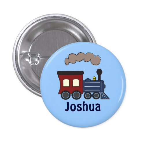 Kids Train Birthday Party Favor Button
