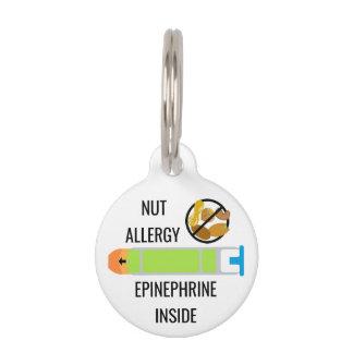 Kids Tree Nut Peanut Allergy Epinephrine Emergency Pet ID Tag