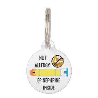 Kids Tree Nut Peanut Allergy Epinephrine Emergency Pet Nametag