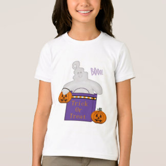 Kid's Trick or Treat Happy Ghost TShirt
