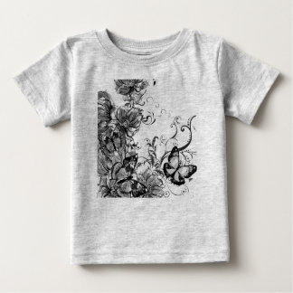 Kids tshirt grey with Ornaments