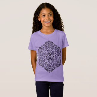Kids tshirt Lavender with Mandala