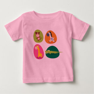Kids tshirt pink with africa animals