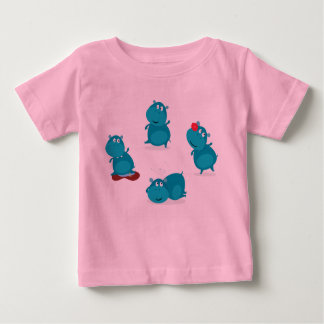 Kids tshirt Pink with dancing animals