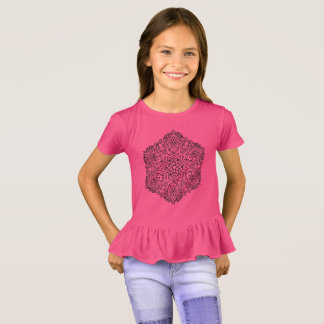 KIDS tshirt pink with mandala