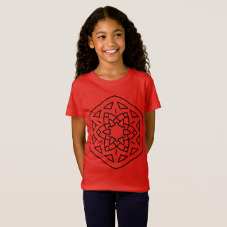Kids tshirt RED with mandala