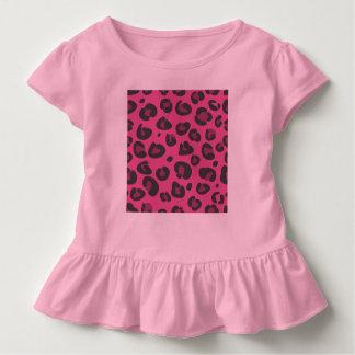 Kids tshirt vintage pink leopard