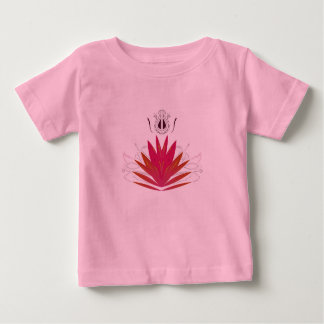 Kids tshirt with Lotus  red