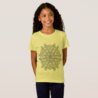 Kids tshirt with mandala Art
