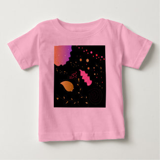 Kids tshirt with Ornaments black