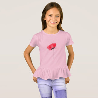 Kids tshirt with Red poppy
