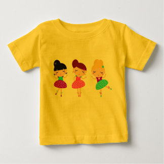 Kids tshirt yellow with balerina