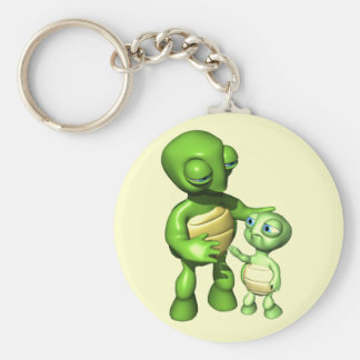 Kids Turtle T Shirts and Gifts Basic Round Button Key Ring