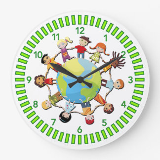 Kids Unite for Peace Clock Design
