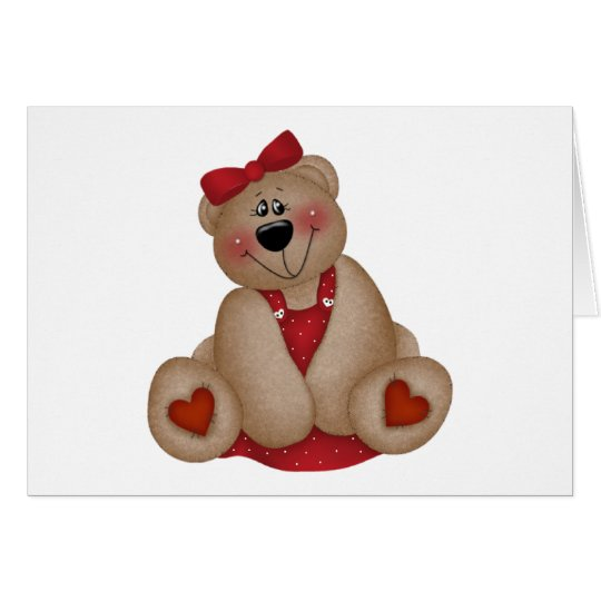 Kids Valentine's Day Bear Card