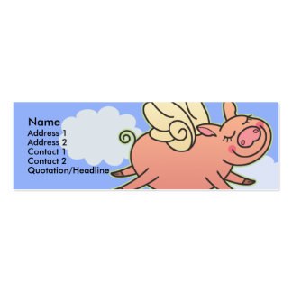 Kids When Pigs Fly Skinny Profile Cards Business Cards