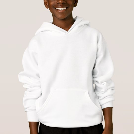 Kids White Customisable Plain Blank Hoodie