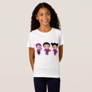 Kids white t-shirt with Emo kids
