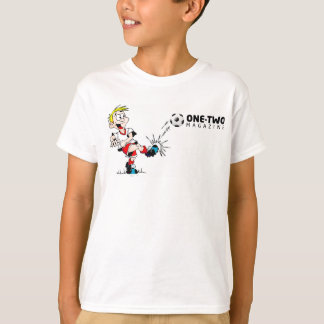 Kids White T-Shirt with Football Design
