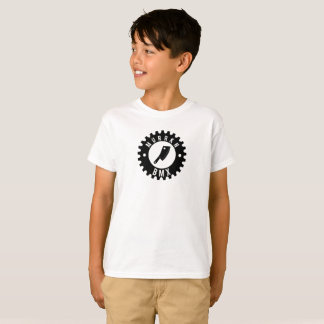 KIDS - White Tee - Black Logo