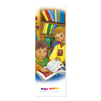 Kids with book - bookmark for everyone! business card