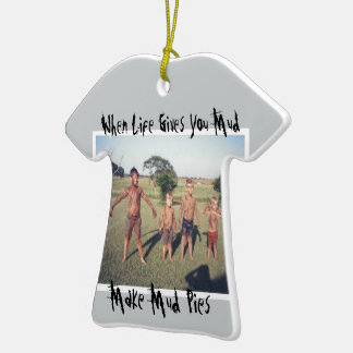 kids with playing in mud ceramic T-Shirt decoration