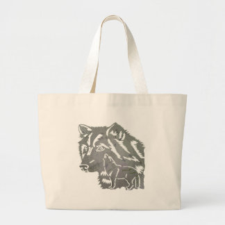 Kids Wolf Tote Bag