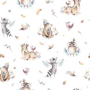 Kids Woodland Animal Shower Curtain