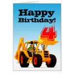 Kid's Yellow Digger 4th Birthday