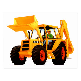 Kid's Yellow Digger Postcard
