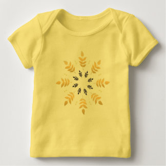 Kids yellow tshirt with Mandala art