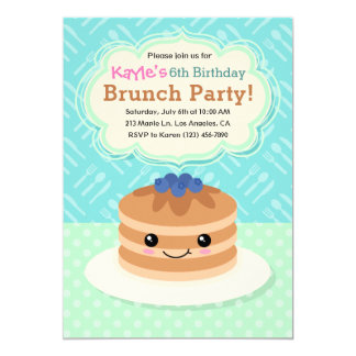 Kids Yummy Brunch Birthday Party Invitation